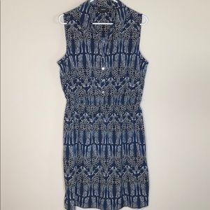 Alfani Giraffe print blue dress size 14